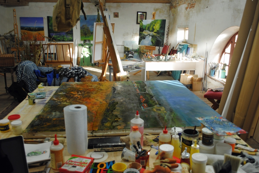 Studio, winter sun