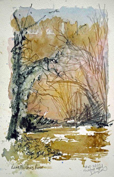 Rain Hushes River